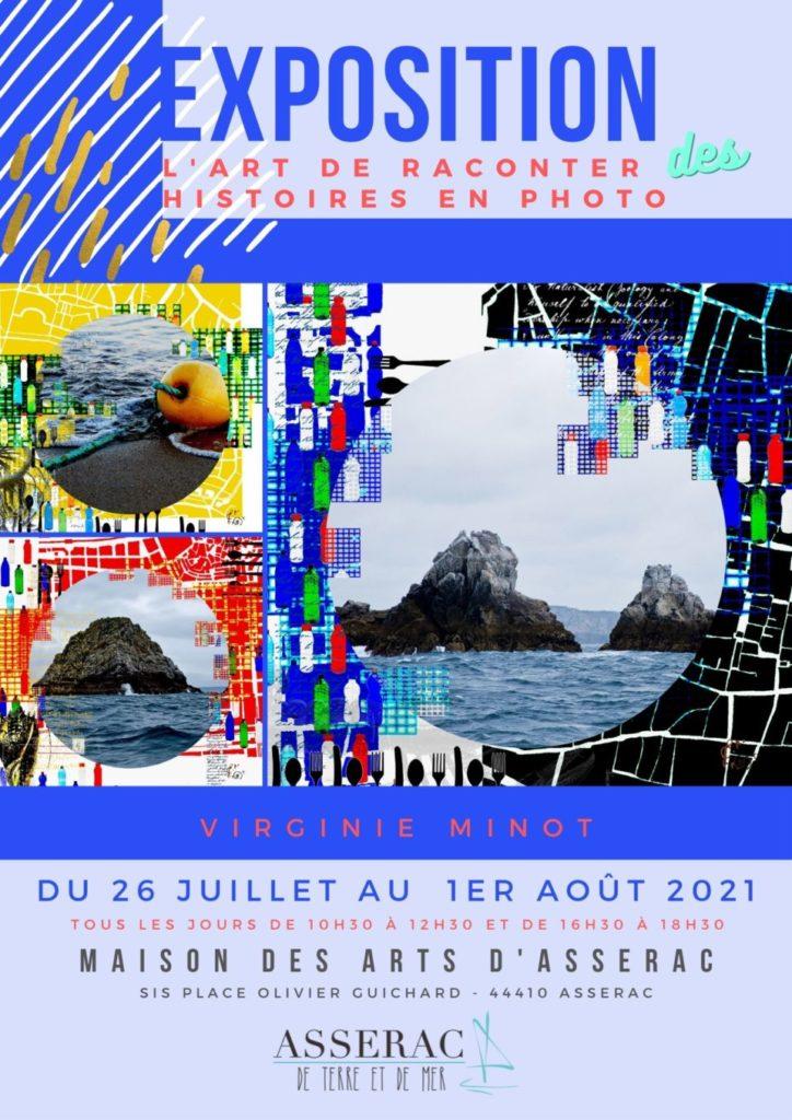 Expo photos de Virginie Minot en juillet 2021 à Asserac